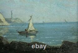 Pierre-Eugène Grandsire, Orléans 1825, Marine, La Manche, Falaises, Cotes 1300