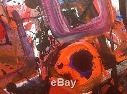 Pierre FULCRAND (1914-2000) Rare HST Huile 1960 Abstrait lyrique Georges Mathieu