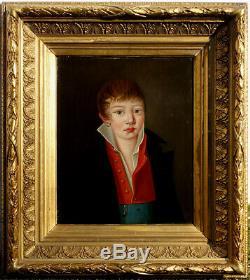 Portrait De Gabriel Courouble, 1818, à 16 Ans, Ecole Anglaise! Superbe Cadre