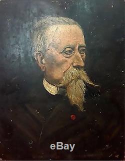 Portrait De Gentilhomme. Huile Sur Bois. Signé Morales. Espagne. Siècle Xix-xx