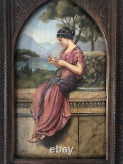 Portrait HSB Vers 1920-1930 Daprès Une Peinture De JW Godward Neo Antique