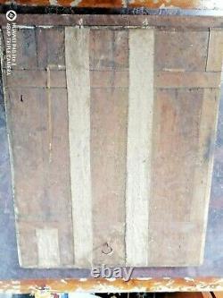 Portrait -huile sur bois début XX