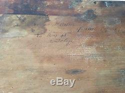 Quissac Gard 1898 Provence huile signée A Delage Vue d'Arbus France