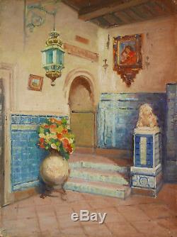 Ralph CZIKAN peintre belge tableau palais Tolède Andalousie Espagne paysage art