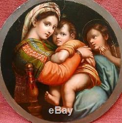 Raphaël Raffello Sanzio Madonna della Seggiola Sedia tableau copie Vierge Enfant