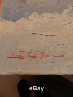 Rare, Léon Zeytline Grande Huile sur bois intitulé Le vieux chêne Alsace