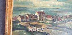 Rare Peinture De Frans Masereel 1934 Huile Sur Bois Signee Au Dos 27 CM Par 22