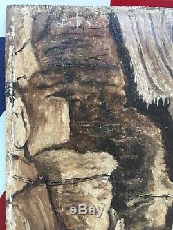Rare Peinture Gouffre de Padirac Lot Devanlay Art Populaire Naïf Brut Outsider