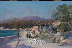 Raymond ALLEGRE (1857-1933), bord de mer en provence, environs Marseille, Cassis