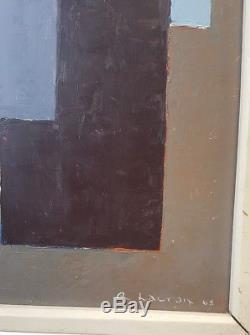 Roger Lacroix (1933 1984) École belge abstraction géométrique 1968. Cubisme