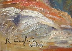 Romeo Aglietti Tableau Orientaliste Paysage Algerie Orientalisme Alger Peintre