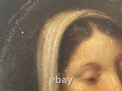 Sainte Catherine peinture sur bois XVIIe Only sale in France