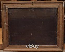 Scène de buveurs XIXè, huile sur panneau