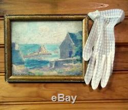 Signée Charles Louis MENNERET XIXè BRETAGNE peinture miniature french painting