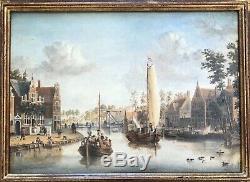 Storck Abraham Tableau Bois Peinture Originale Copie Galerie Troubetzkoy