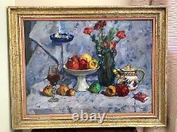 Sublime École Russe, Huile sur toile grand format, titrée, signée et datée 1990
