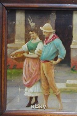 Sublime PEINTURE Huile IMPRESSIONNISTE! ITALIENNE Français 1900's ou Avant