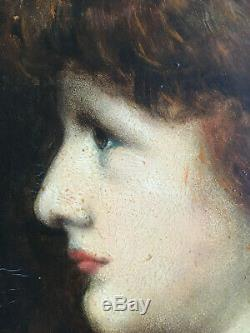 Suiveur de Henner, portrait d'une femme