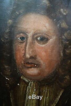 Sup. Portrait d'un aristocrate, XVIIIème s. Huile sur toile, bon état, (1 de 2)