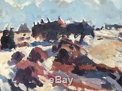 Sydney Lough Thompson Tableau Hst Peinture 1930 Marine Bord De Mer Concarneau
