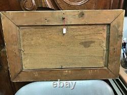 TABLEAU HUILE SUR PANNEAU BOIS signé CH HENRY paysage du Jura vers 1880