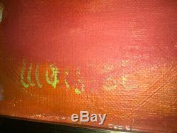 TABLEAU MOISSET Huile sur toile année 1967 55/45 cm cadre bois parfait état