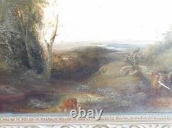 TABLEAU SUR PANNEAU BOIS DU XVIII ème SIECLE