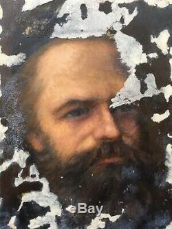 Tableau Ancien Etude Portrait Homme Barbu Alice Kaub-Casalonga (1875-1948)