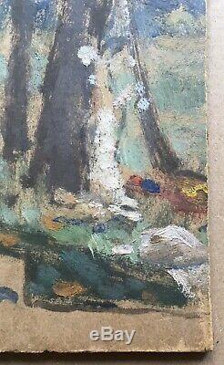 Tableau Ancien Rare Huile Etude Arbre Nabis Jules Grün (1868-1938) vers 1900