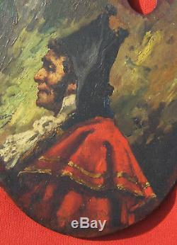 Tableau Ecole Espagnole Portrait Homme Bicorne Costume Espagne Peinture Huile