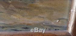 Tableau Eugene Boudin ancien peinture à huile Fauvisme Fauve Impressionisme