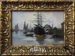 Tableau HSP Marine A. Languinais Eugène GALIEN-LALOUE (1854-1941)