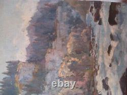 Tableau Henri Chapatte (1918-1997) Huile sur panneau Gorges du Doubs Signée