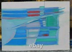 Tableau Huile Abstraction Abstrait 1970 Seiji yabuki (Tokyo 1942-2017) Japon