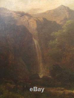 Tableau Huile Sur Bois Ecole Allemande Signé Richter Daté 1856 Breitenstein