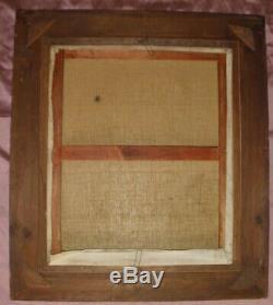 Tableau / Huile sur toile d'après la Vierge au coussin vert + cadre bois