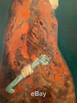 Tableau J. Gabriel Daragnes 1886/1950 théâtre chinois Japon Vietnam Indonésie