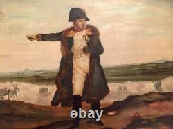 Tableau, Napoléon. Huile sur toile collé sur bois. Début XlX XX ÈME. VOIR PHOTOS