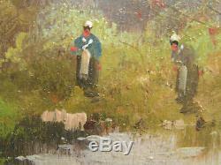 Tableau Paysage E. Dupuy Eugène Galien-Laloue (1854-1941) + cadre