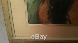 Tableau Robert Fernier huile sur bois