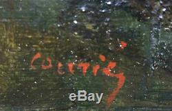 Tableau Sous bois animé signé école de Barbizon XIX° + cadre