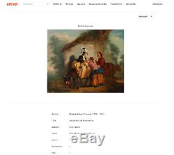 Tableau ancien 18e Suite d'Etienne Aubry Prix sacrifié! Estimé Drouot 1000-1500
