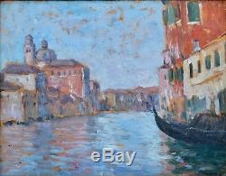 Tableau ancien, Vue de Venise vers 1930
