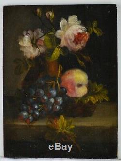 Tableau ancien XIXème, Nature morte de fleurs
