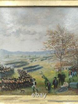 Tableau ancien empure bataille Napoléon Rivoli Austerlitz campagne d'Italie