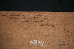 Tableau ancien huile paysage Gisy les Nobles dans l' Yonne Impressionnisme 1900