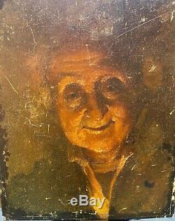 Tableau ancien portrait d'une femme d'après RUBENS Ecole Hollandaise Française