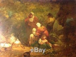 Tableau attr. George Morland huile sur panneau bois peinture