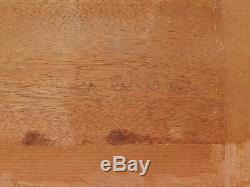 Tableau breton paysage BRETAGNE scène Pardon huile années 20 Art Déco église