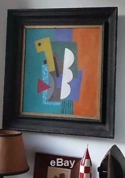 Tableau cubiste constructiviste abstrait art déco Bauhaus